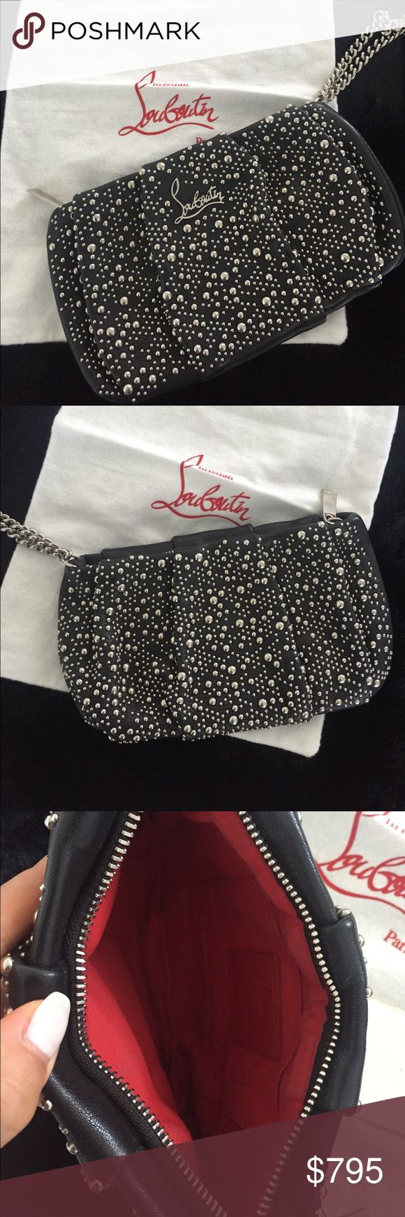 Christian Louboutin Clutch Christian Louboutin Studded Clutch and wristlet. Beautiful little handbag. 100% authentic. Will come in Original Louboutin Dustbag and has tag (unattached). Used less than a handful of times. Like new. Signature Red Louboutin Interior. Christian Louboutin Bags Clutches & Wristlets