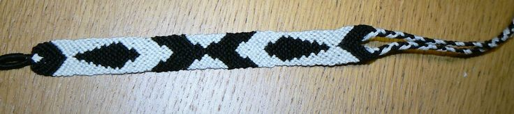 Fire world-black and white friendship bracelet