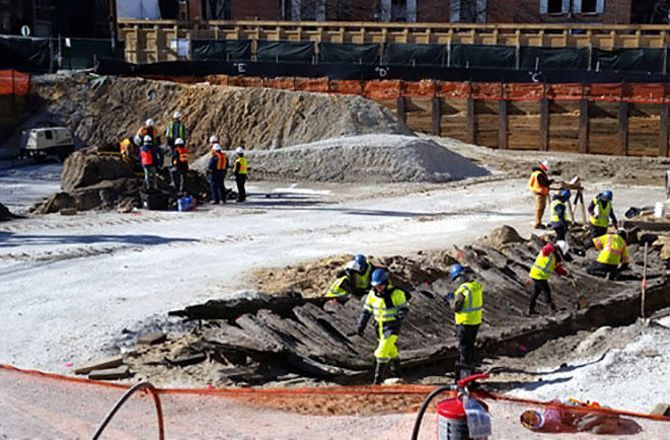 Remains of the ship were found as work began to build a new hotel in Alexandria, Va.