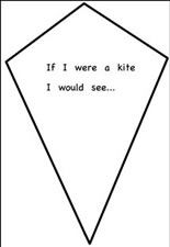 If I were a kite, I would fly to..... While I am there I will see...... I will hear........... I will smell.......,.etc. ;)
