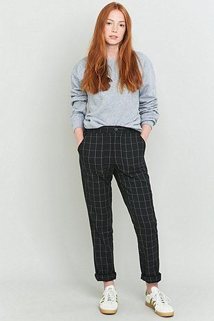 Urban Renewal Vintage Remnants Black Wool Trousers - Urban Outfitters