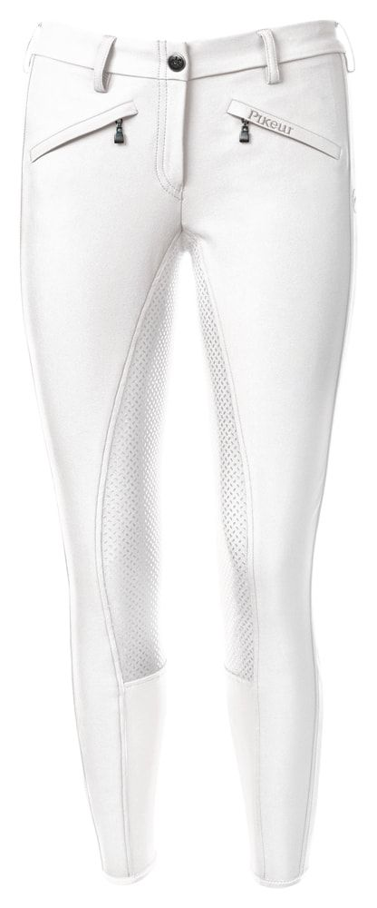 Pikeur Latina Grip Ladies Breeches available at Lofthouse Equestrian. These NEW Latina Grip Ladies breeches are smart looking and an essential item for all riders. A new lower waist and two stylish front pockets, with the Pikeur emblem, set these breeches apart from the rest. The seat has been inserted with a Polyurethane coating enhancing grip making the breeches slip resistant. Only £135.00 a pair! #LofthouseEquestrian #Pikeur #riderwear