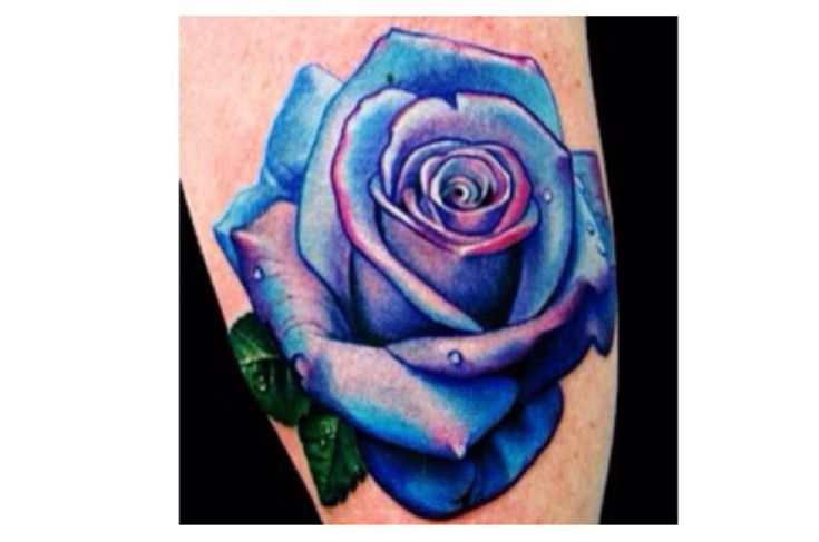 Blue and purple rose tattoo | Tattoos | Pinterest | Purple ...