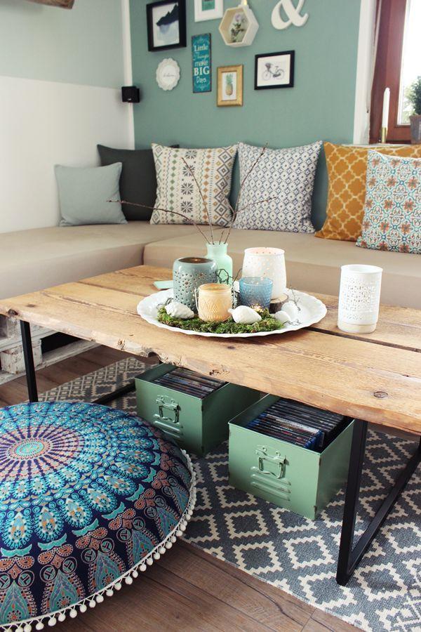 DIY Couchtisch, alte Holzbretter, Tisch