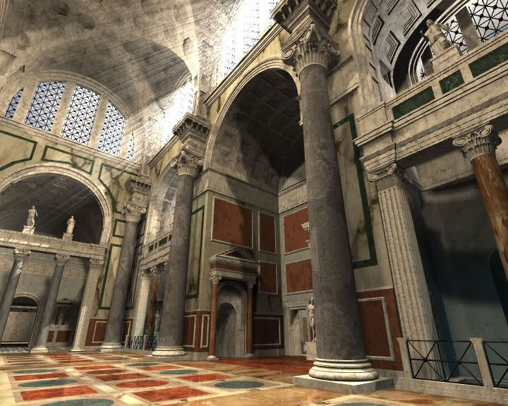 Baths of #Caracalla. Rome. digital reconstruction NB: for more on these Baths see my board on HISTORY OF THE #DOME #ancient #roman