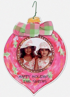 Adorable Christmas card idea. Ornament with hook!