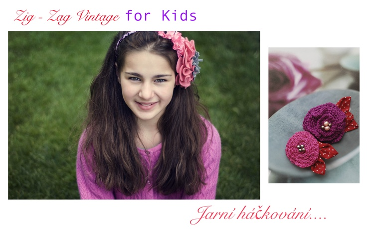 Crochet hair pin & brooch / hand made by ZZVintage Prague