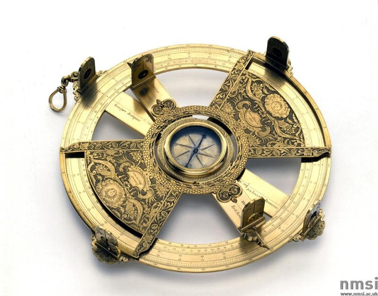 Simple theodolite, Italian, 1676. Made by Johannes Macarius in Modena, Emilia-Romagna, Italy.