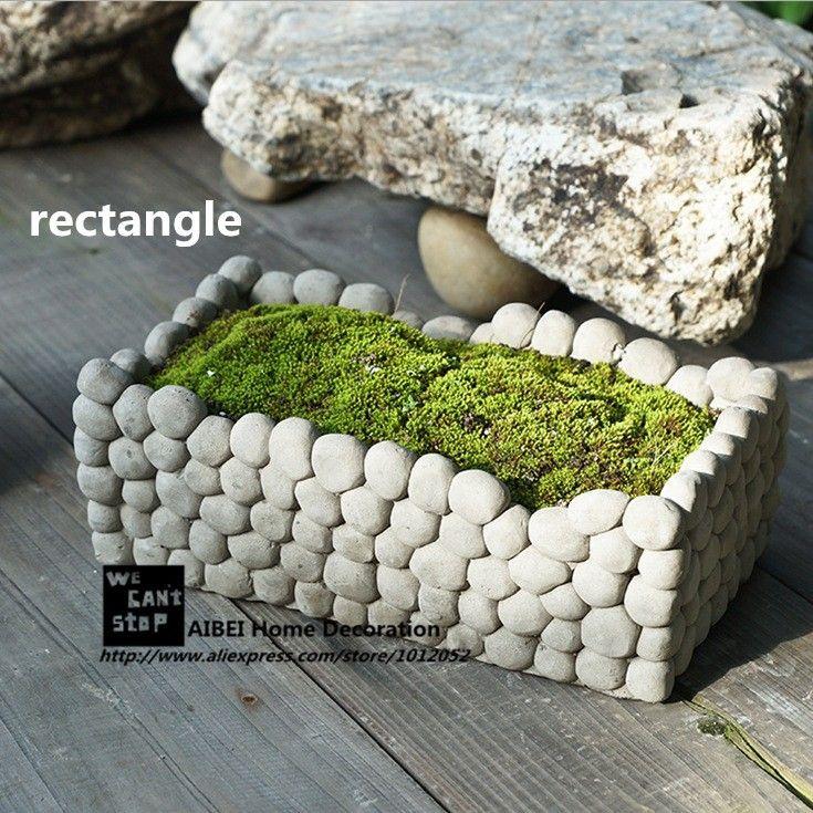 pedra cimento jardim : pedra cimento jardim:1000 idées sur le thème Jardim Com Pedras sur Pinterest