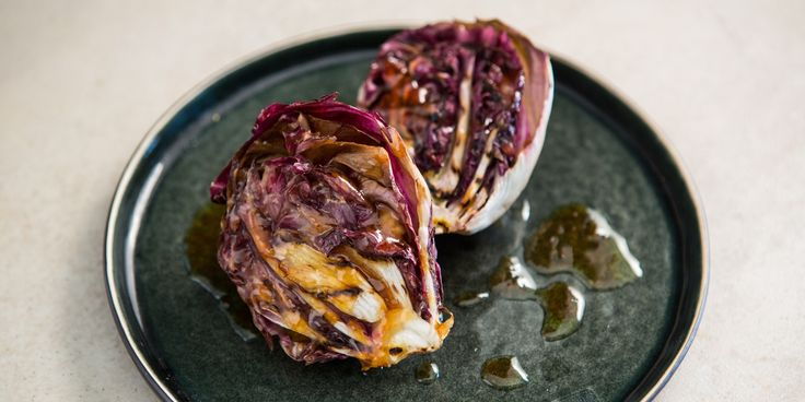 Chargrilled radicchio and blood orange dressing