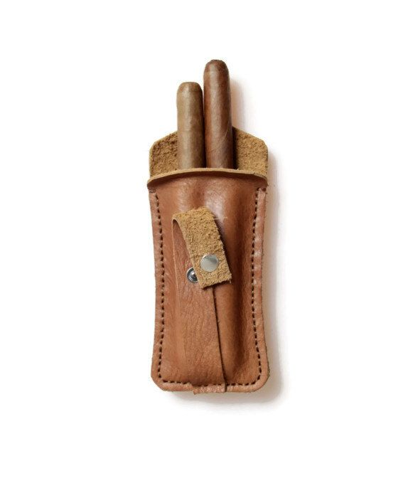 A personal favourite from my Etsy shop https://www.etsy.com/listing/173950714/handmade-cigar-case-brown-leather-cigar