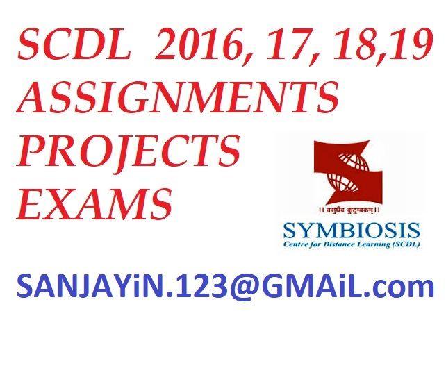 Scdl Assignments Pdf