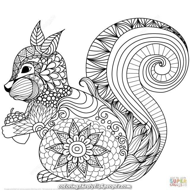 Amazing 25 Inspiration Picture Of Coloring Pages Animals Mandala Squirrel Coloring Page Mandala Coloring Pages Animal Coloring Books