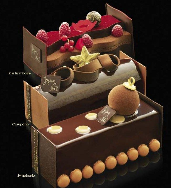 Great selection of buches from the Patisserie Oberweis, Luxembourg http://www.oberweis.lu /