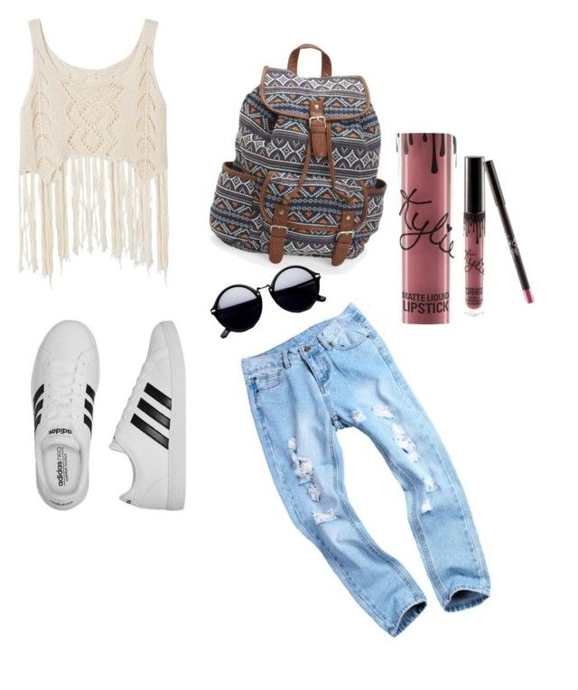 """""""Untitled #104"""" by rbanahi on Polyvore featuring adidas, Aéropostale and Kylie Cosmetics"""