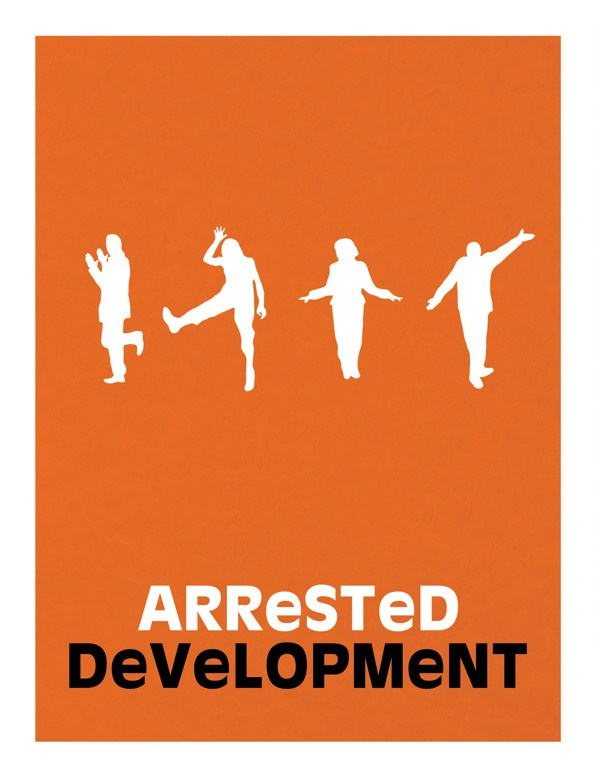 "Arrested Development minimalist poster ""Has anyone in this family seen a chicken before?"""