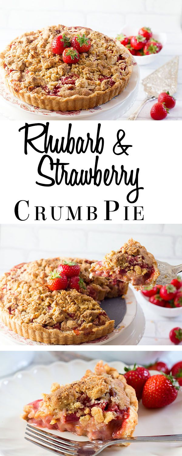 This dazzling dessert recipe from Erren's Kitchen for Rhubarb and Strawberry Crumb Pie is just heavenly. The sharp rhubarb balances out the sweet strawberries perfectly and crunchy crumb topping is the grand finally.