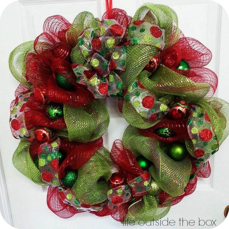 Beautiful, homemade deco mesh wreaths for a fraction of the price! You can easily design your own deco mesh wreath for any occasion!