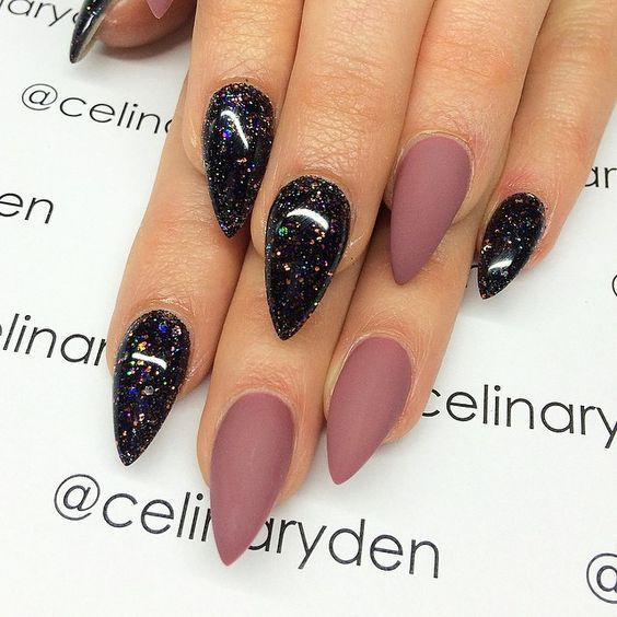 gel nail designs for winter glitter 2018 Another great look for both long nails and short nails alike, they're easy and simple, and you can do these ones yourself at home. You'll save a fortune from the regular nail salon trips! Why not darken up your silver, making it more grey than shiny? You've got the light grey, and you've