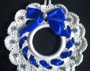 Guirlanda de Natal - fita azul