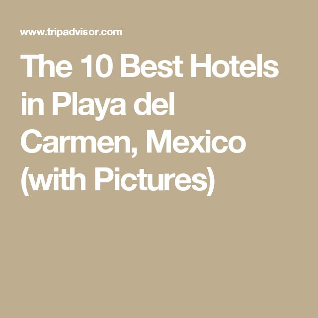 The 10 Best Hotels in Playa del Carmen, Mexico (with Pictures)