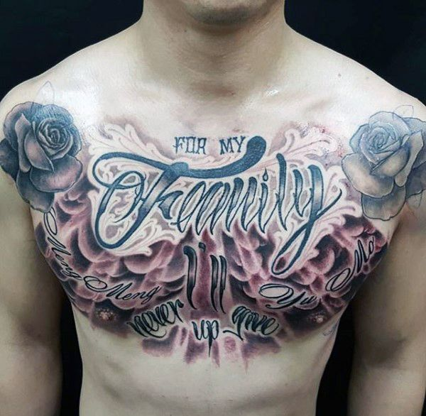 50 Chest Quote Tattoo Designs For Men: 66 Best Images About Chest Tattoos On Pinterest