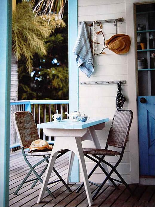 Coastal Style: The Aussie Beach Shack, Love the style of that little table!