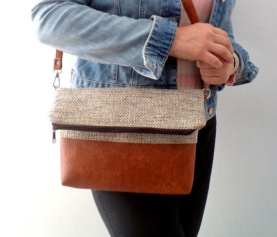 Foldover crossbody bag / Shoulder purse / Everyday by reabags