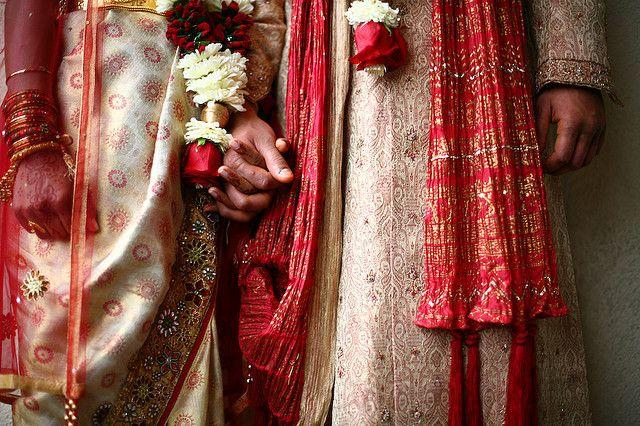 An Indian wedding closeup.