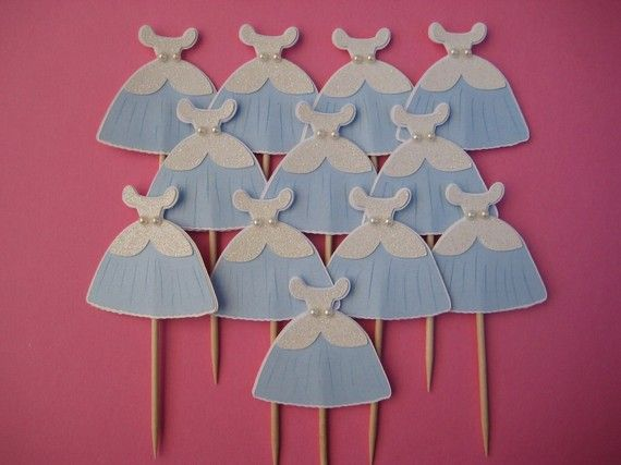 cinderella cupcake picks