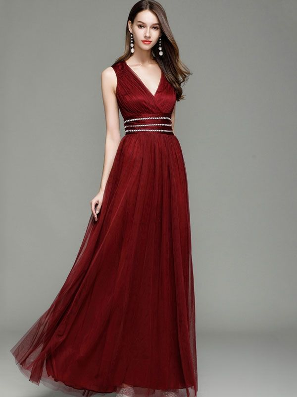 ad63cc59a8 Just Shop for Sequined Contrast Solid Color V-Neck High Waist Backless  Dresses from Jollyhers