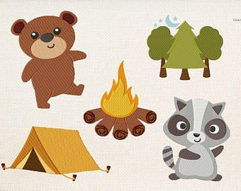 Camping machine embroidery designs etsy woodland applique and