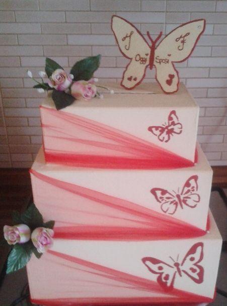 torta porta buste matrimonio