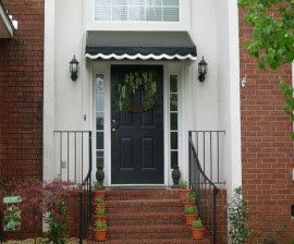 Front Door Awning Ideas 1000 ideas about front door awning on pinterest door canopy metal awnings for front doors Simple Detail The Awning Over The Front Door Awningsandoutdoorblinds