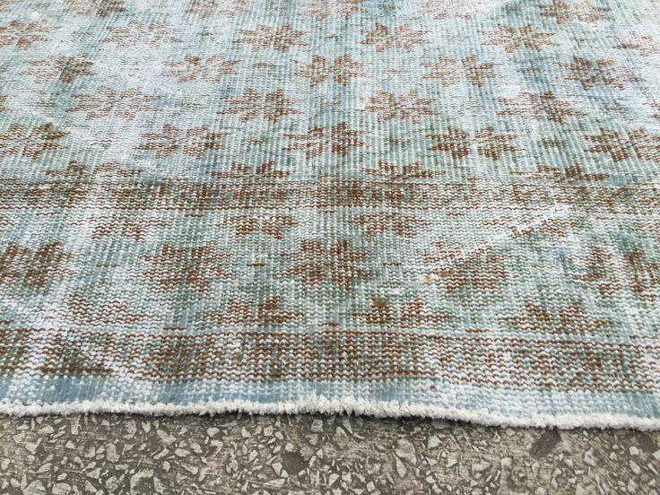 9'6 x 6'5 Best Pattern Vintage TURKISH ANATOLIAN Overdyed Oushak Carpet RUG by EclecticRug on Etsy