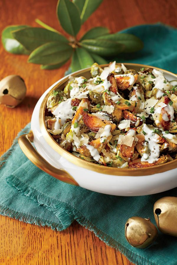 Vegetarian Side Dishes: Brussels Sprouts with Parmesan Cream