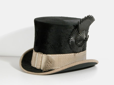1904 man's top hat, Christy's of London, Lanhydrock © National Trust