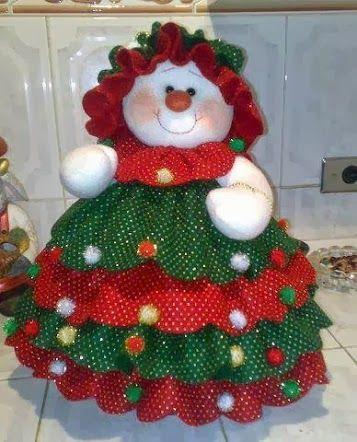 Adorno navideño muñeca nieve