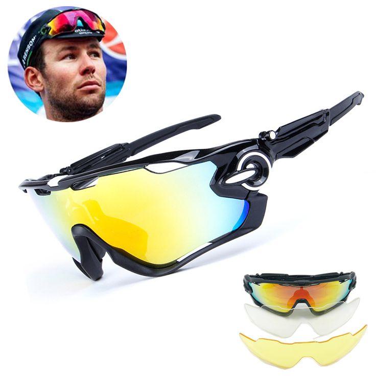 Coloré(TM) Sunglass Femme Femme Lunettes Hommes New UV400 Lentille lunettes de soleil lunettes d'équitation en plein air sport lunettes de vélo de montagne (Rouge) F5ETVp