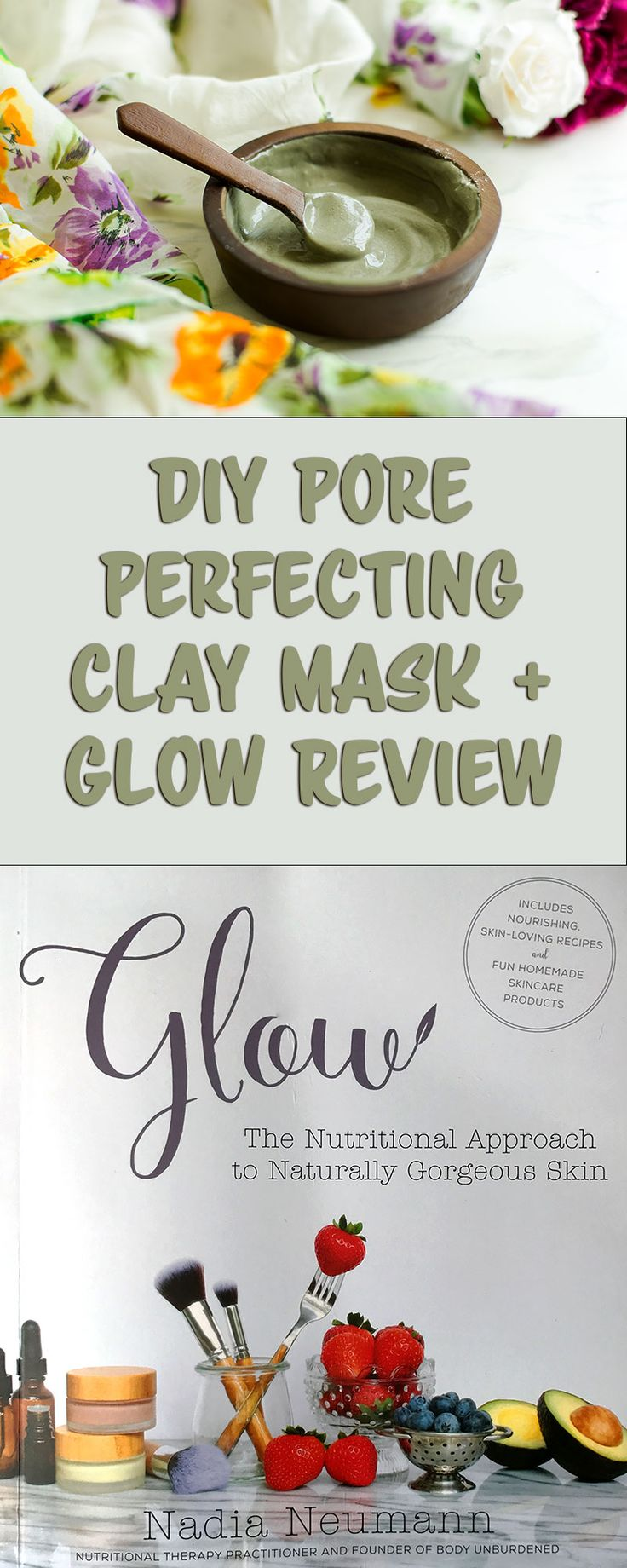 Pore-Perfecting Clay Mask with Bentonite and French Green Clay (DIY Paleo AIP skincare)// TheCuriousCoconut.com