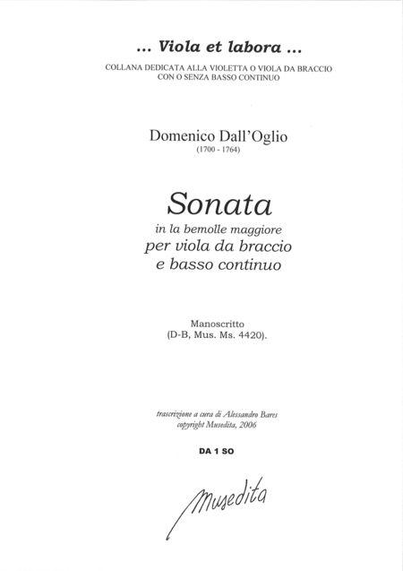 Viola Sonata in A flat Major (Manuscript, D-B)