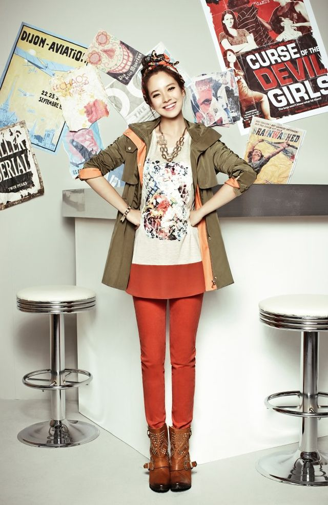Song Ji Hyo Mixes It Up With Prints, Patterns, & Color For YESSE's Fall 2013 Campaign : Couch Kimchi