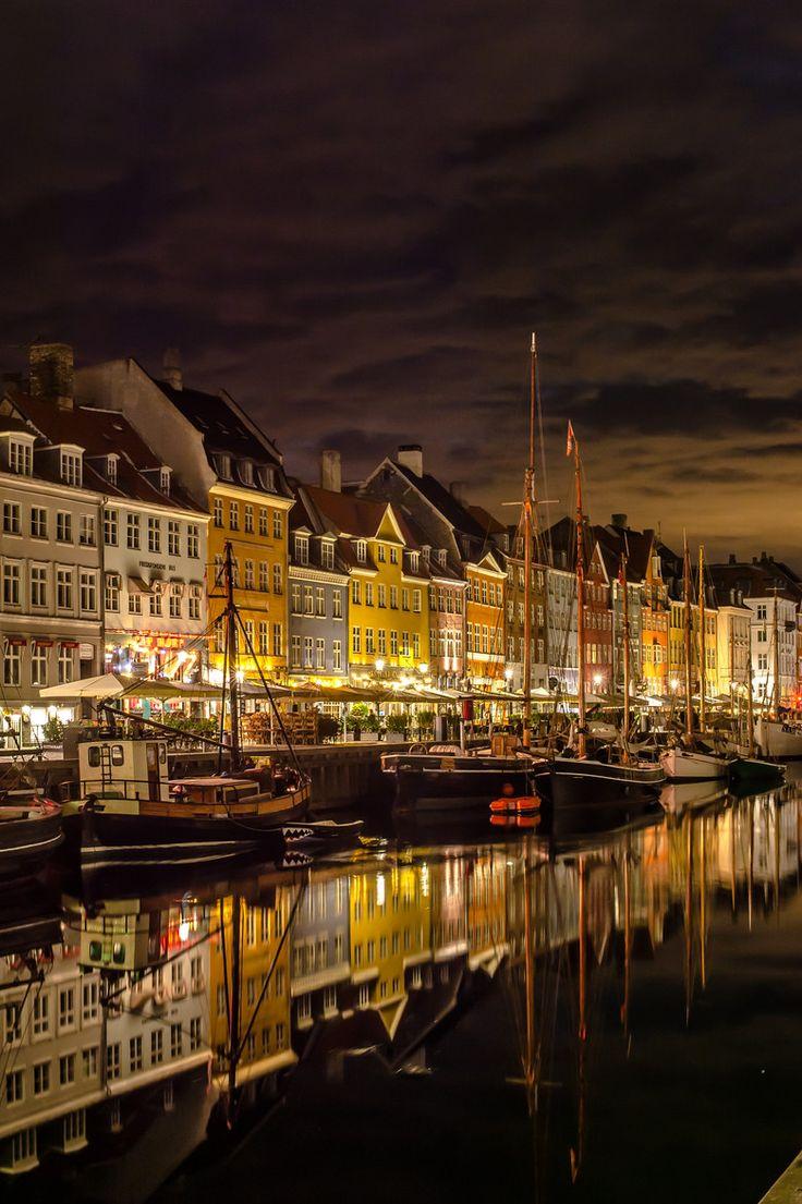 Night Lights & Reflection...Copenhagen | by jorgen norgaard on 500px