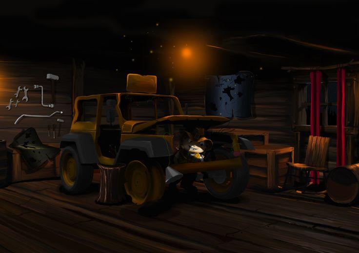Bi & Wi story - grandapa's garage restore te old jeep for the trip