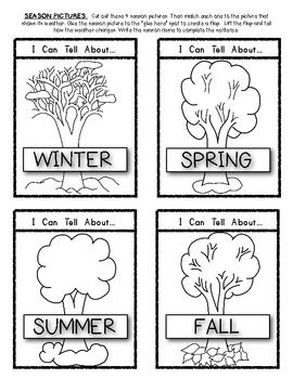(sample page) Seasons and Weather Change (LIFT THE FLAP ACTIVITY) Interactive Science activity!! $