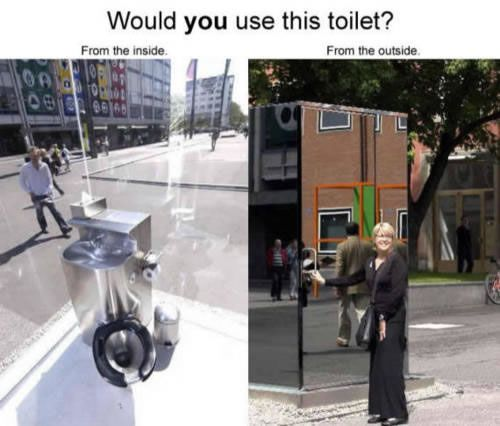 Would you use this toilet?Mirrors, Glasses, Public Bathroom, Funny Pictures, Public Toilets, Awesome Bedrooms, Places, Challenges Accepted, Bedrooms Wall
