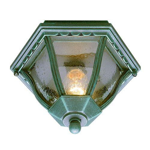 Worland Swedish Iron 13-Inch Outdoor Flush Mount Ceiling Light - (In SWI-Swedish Iron)