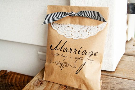 Marriage is what brings us together today - wedding favors straight from Princess Bride. Perfect for the couple with good movie taste and a good sense of