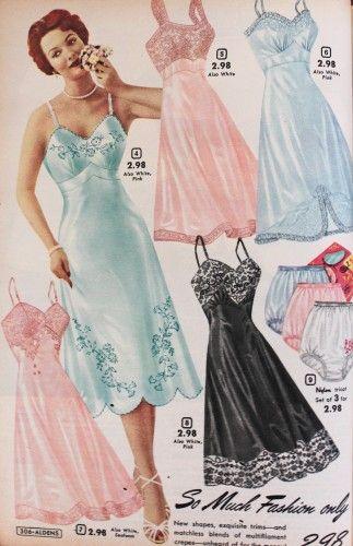 1950s Lingerie History Bras Girdles Slips Panties