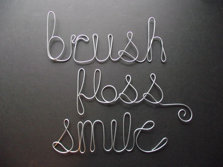 Brush Floss Smile- Wire Word Sculptures by TheTinkaTree on Etsy